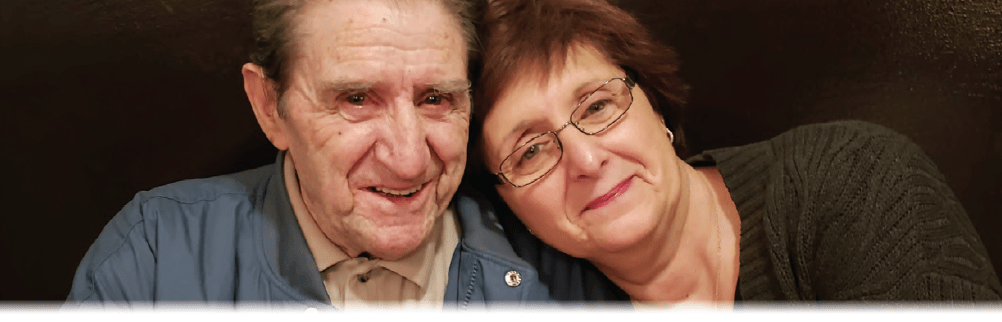 Susan Saccoccia-Olson and her father, pictured just a couple of months before his passing in 2018. Saccoccia-Olson lost both her father and her mother to Alzheimer's disease.